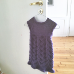 Knitted Dress with Falling Leaves Stitch