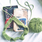 Currently Reading and Knitting