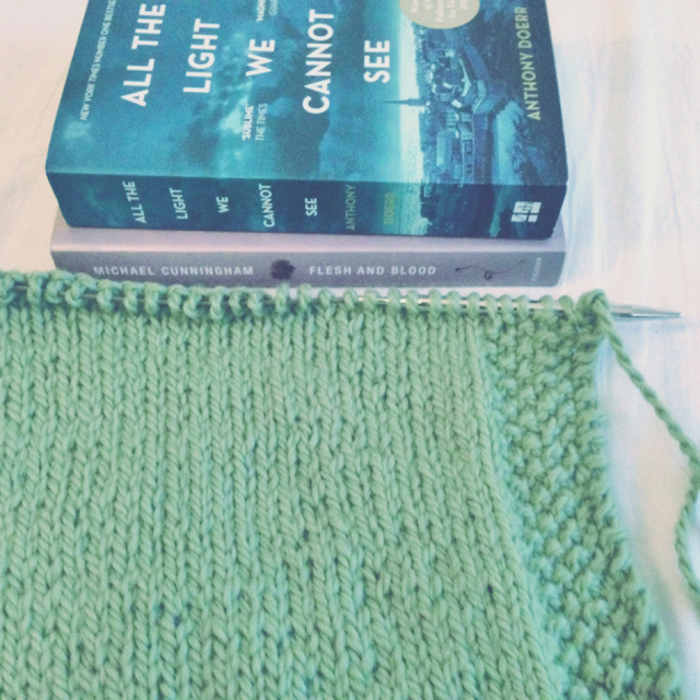 Books and yarn