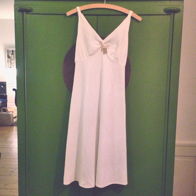 white vintage dress from karen copenhagen