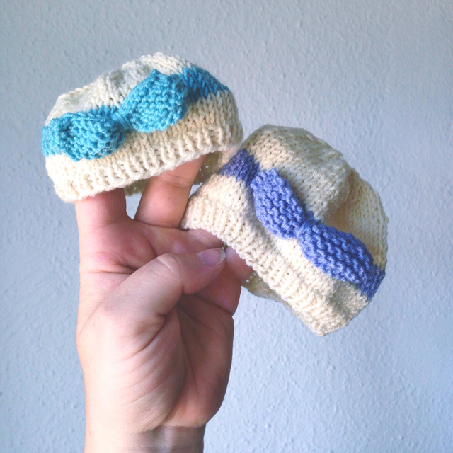 knitted baby hat free pattern