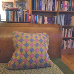 Knitted Entrelac Pillowcase