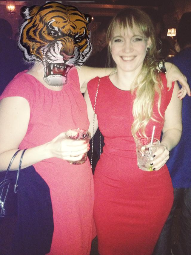 red dress animal head