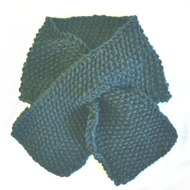 knitted baby scarf