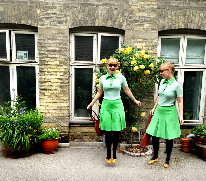 Second hand green dress