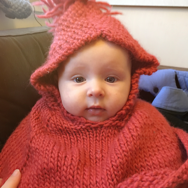 baby knitted poncho