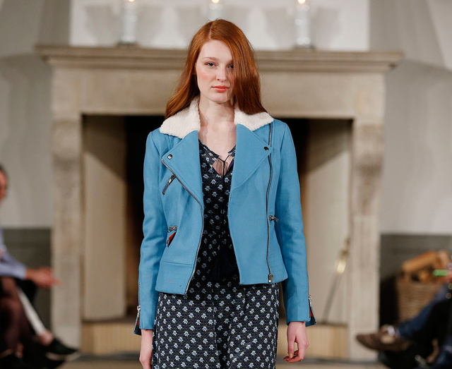 edith and ella blue biker jacket