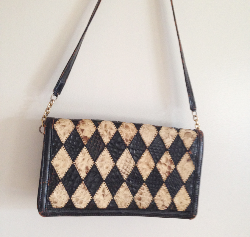vintage harlequin bag